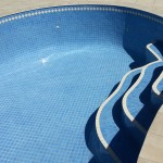 pool re-tiled